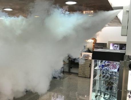 antifurto nebbia ladri nebbiogeno